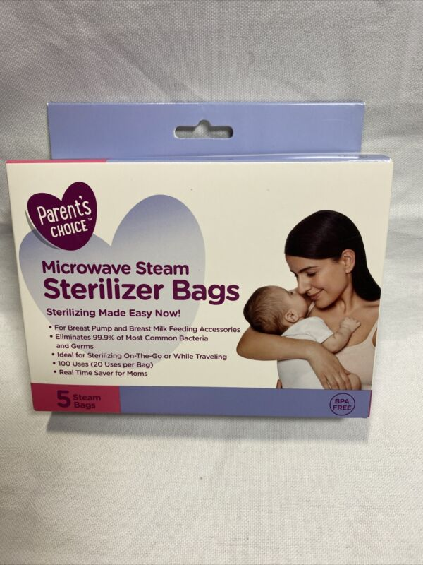 Parent's CHOICE Microwave Steam Sterilizer Bags BPA FREE - 5 BAGS W3