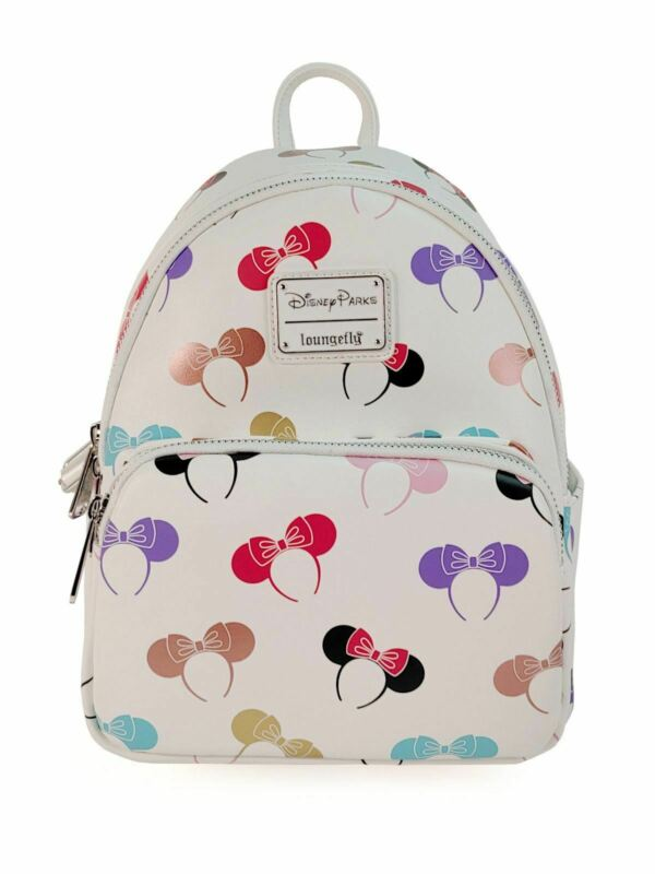 Disney Parks Loungefly Minnie Mouse Ear Headband Prints Backpack