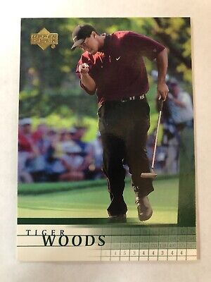 Tiger Woods 2001 Upper Deck PGA Golf RC Rookie Card #1 ***FREE SHIPPING***