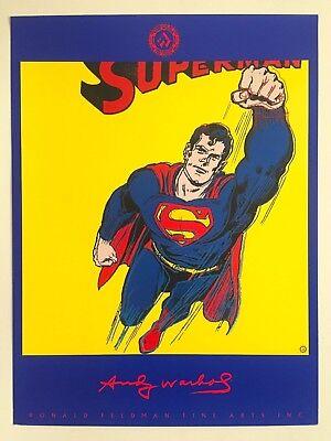 "ANDY WARHOL 1ST EDTN RARE 1989 ORIGINAL LITHOGRAPH PRINT POSTER ""SUPERMAN"" 1981"