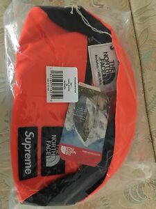 Brand new w/Tags Supreme and The North Face waist bag (orange)