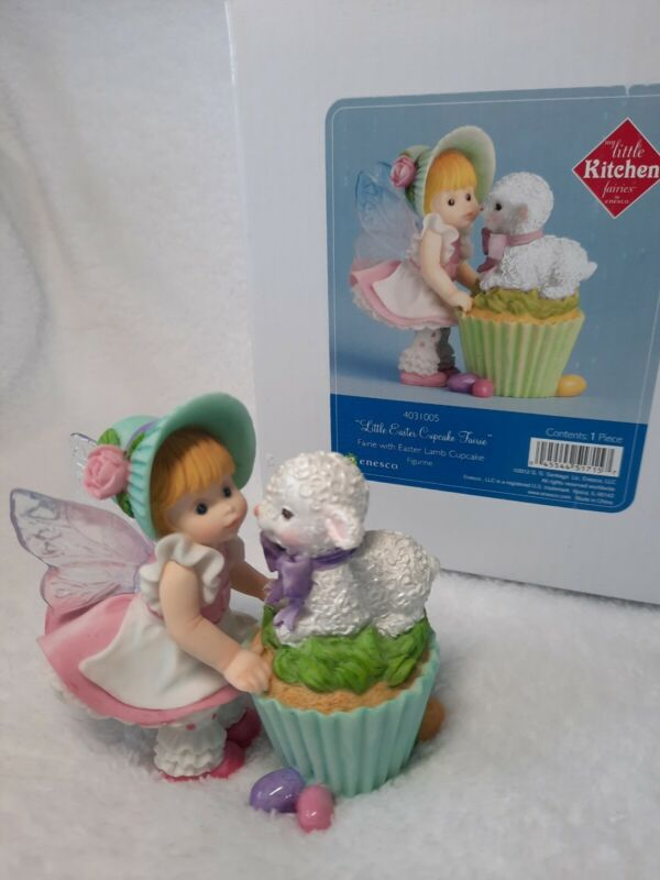 Enesco My Little Kitchen Fairies Easter Cupcake Lamb
