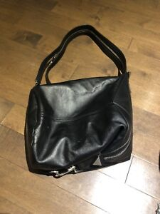 Botkier Black Leather Convertible Backpack/Purse