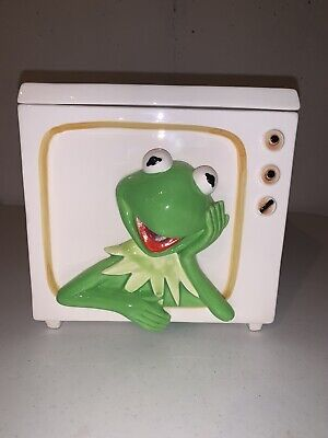 Vintage Rare Kermit The Frog TV Cookie Jar Tastesetter Sigma Jim Henson Muppets