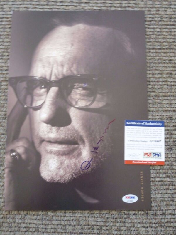 Dennis Hopper Easy Rider Signed Autograph Book 11x14 Photo PSA Certified F3