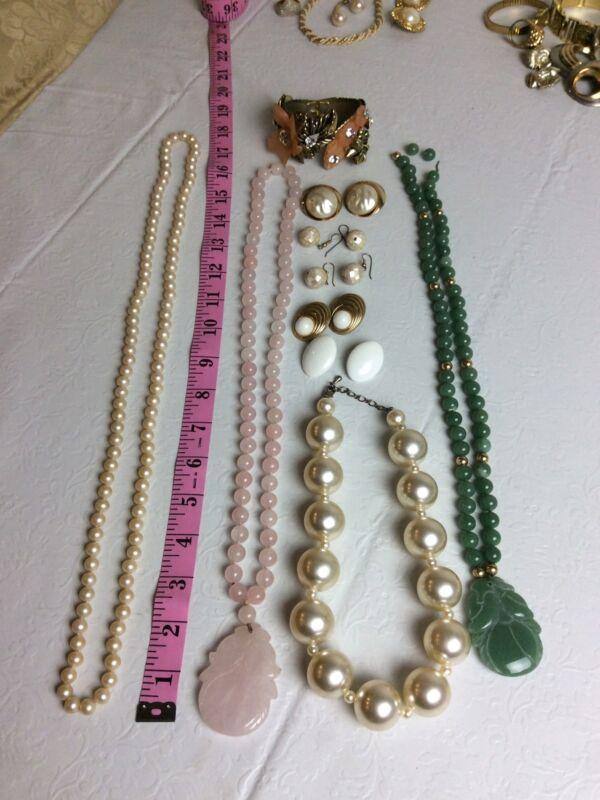 Vintage Estate Pearl Antique Fashion Jewelry Lot