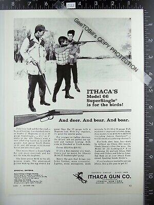 1966 Ithaca Gun Co. NY Model 66 SuperSingle shotgun vintage advertisement m-66