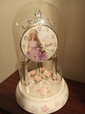 Beautiful Barbie Bubble Working Vintage Clock, 10h x 6w by Mattel
