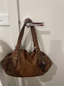 Witchery LEATHER camel handbag