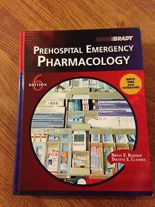 Prehospital Emergency Pharmacology 6th edition- hardback cover