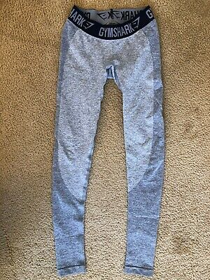 Gymshark flex leggings XS - steel blue marl/evening navy blue
