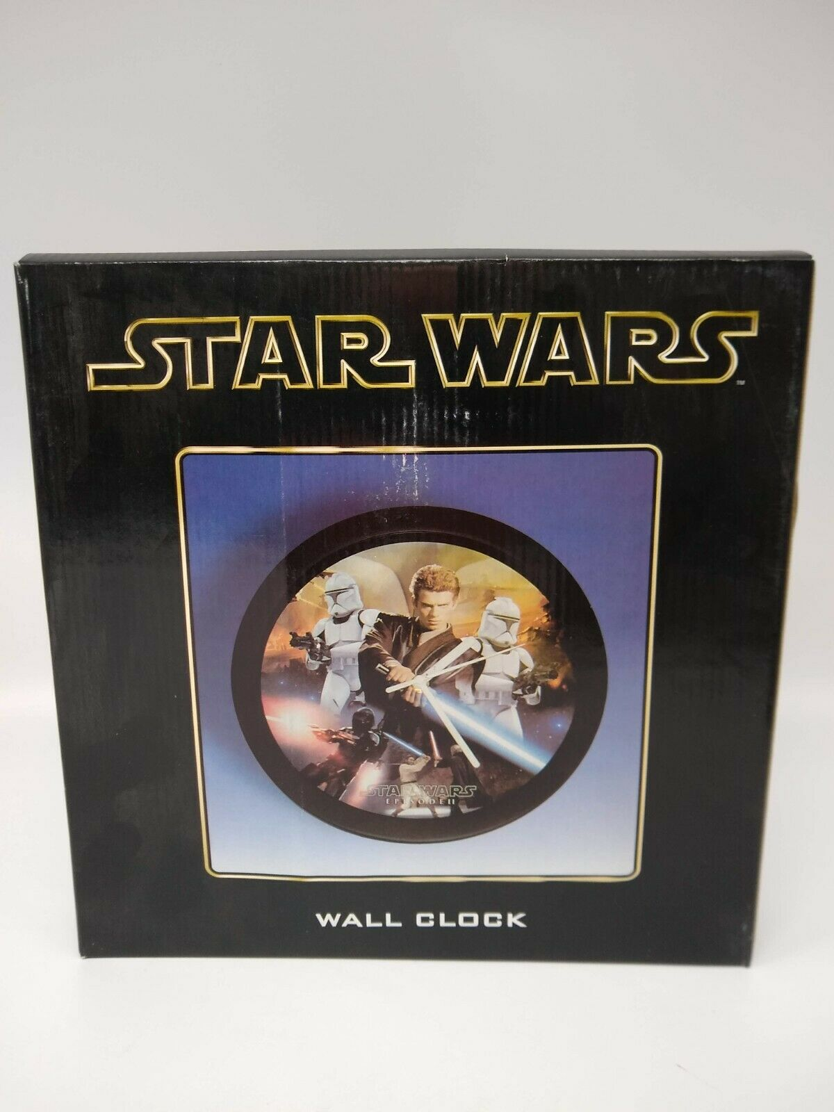 Star Wars Episode 2 Wall Clock Featuring Anakin and Clone Troopers - Sealed