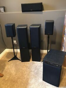 Surround speakers with subwoofer