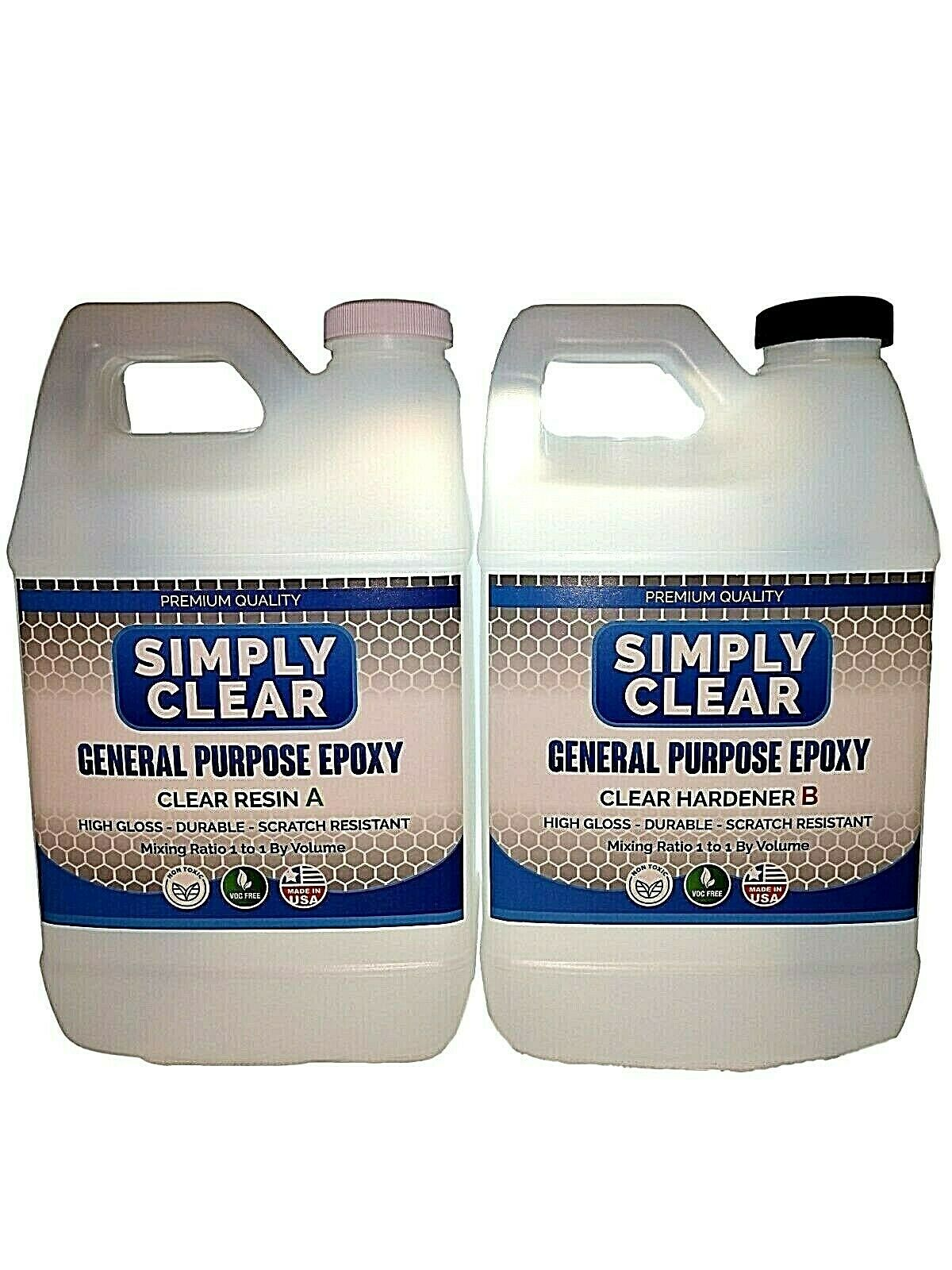 Crystal Clear Bar/Table Top Epoxy Resin Coating For Wood or Crafts -1 Gallon Kit Adhesives, Sealants & Tapes
