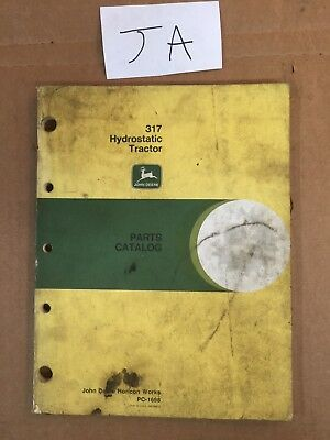 John Deere 317 Hydrostatic Lawn Tractor Parts Catalog Manual Original