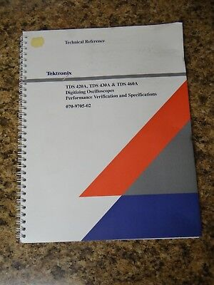 Tektronix Tds 420a 430a 460a Technical Reference