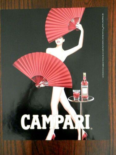 2007 PRINT AD, Campari, #35 Ventagli Rossi, Nude Woman with Fans