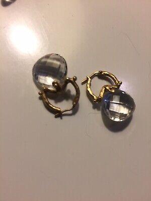 Ippolita 14K Yellow Gold & Quartz Earrings. @ 1994.