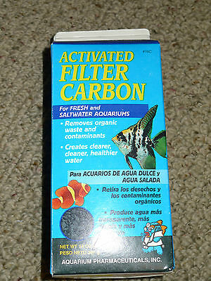 New 76C ACTIVATED FILTER CARBON (14oz Carton) Aquarium Pharmaceuticals API