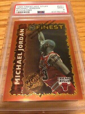 1995-96 Topps Finest Hot Stuff w/coating #HS1 Michael Jordan PSA 9 MINT!