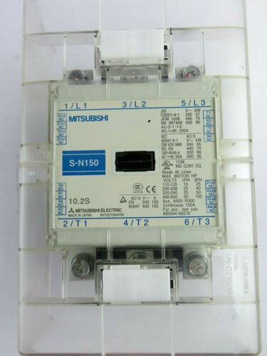 Mitsubishi S-N150 150 Amp Contactor w/ Guards