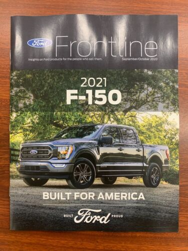 2021 Ford F-150 Frontline Dealer Magazine Brochure September/October - Mint!