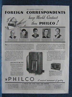 Купить Philco 16X - 1934 Philco Radio Ad - Model 16X & Model 45C - Recommended BY Foreign Newsmen