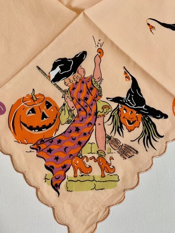Darling NEW Halloween Holiday Handkerchief Hankie! LuRay Vintage Style!