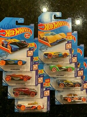 2020 Hot Wheels TRACK STARS COMPLETE SET of 5 (8) w CIRCLE TRUCKER TREASURE HUNT