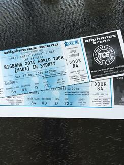 BIGBANG 2015 WORLD TOUR [MADE] SYDNEY 2xCAT4 TICKETS Yagoona Bankstown Area Preview