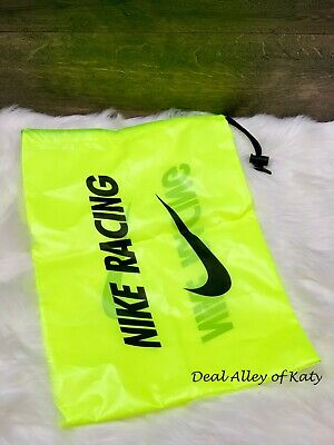 NIKE Racing Track & Field Spikes Shoes Carrying Bag Nylon Volt Yellow Sinch Sack - Sack Racing Bags