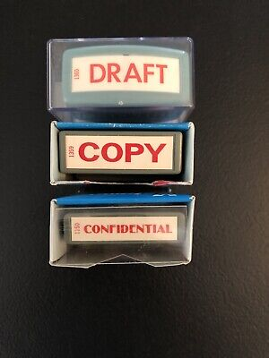 Vintage Xstamper Rubber Stamps Shachihata Lot Of 3 Japan Copy Confidential Draft