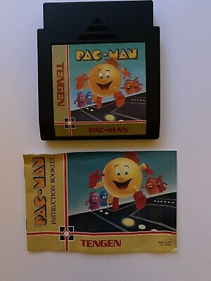 Pac-Man (Nintendo Entertainment System) Tengen, With Manual, Cleaned & Tested