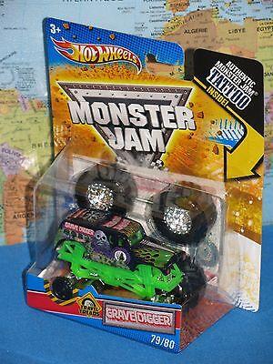 Hot Wheels Monster Jam Grave Digger Truck #79/80 Tattoo Brandneu & Selten (Hot Wheels Tattoos)
