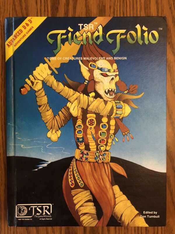 HIGH GRADE! FIEND FOLIO 1981 1st print 1st Edition Dungeons & Dragons