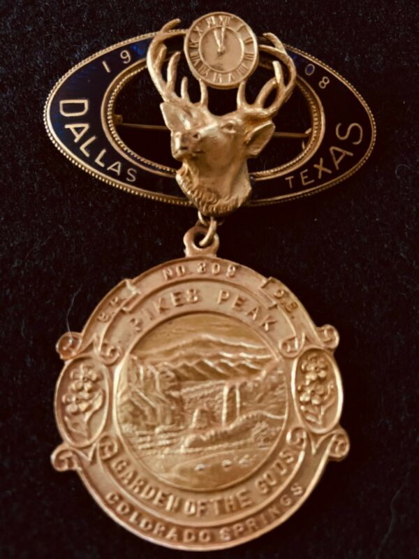 BPOE ELKs memorabilia- 1908 DALLAS REUNION-Colorado Springs # 309