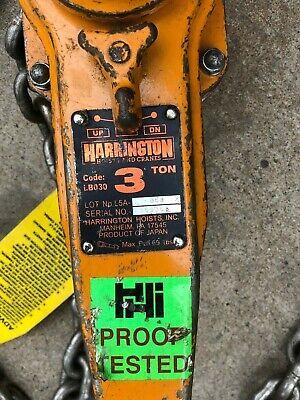 Harrington Come Along 3ton 20ft Lb030