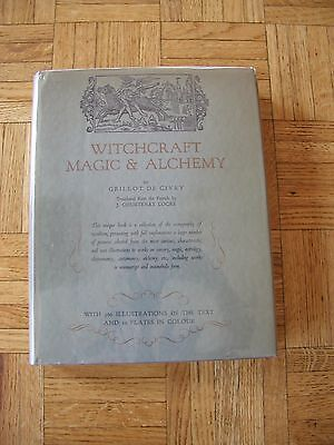 Witchcraft  Magic   Alchemy De Givry  Grillot 1St Ed Hc