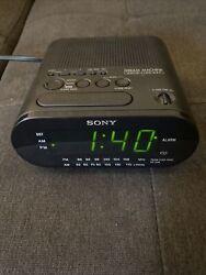 Sony Dream Machine ICF-C218 AM/FM Alarm Clock Radio - Black - Excellent, Working