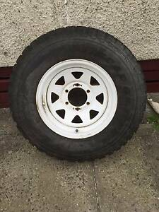 """Toyota Land Cruiser 4x4 15"""" 6 Stud Sunrasia wheel with new tyre Moe Latrobe Valley Preview"""