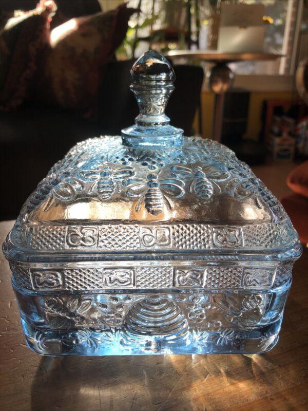 Indiana glass Tiara Honey Bee Jar