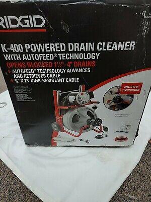 Ridgid 115-volt K-400af Autofeed Drain Cleaning Drum Machine New See Description