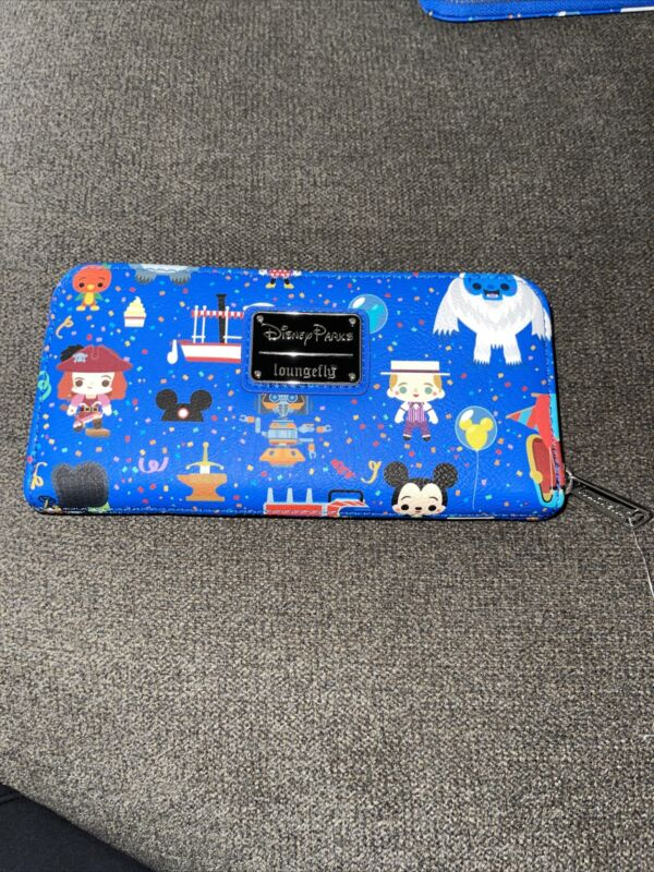 2021 Disney Parks Collage Icons Attractions Wallet Loungefly EXACT PRINT #4