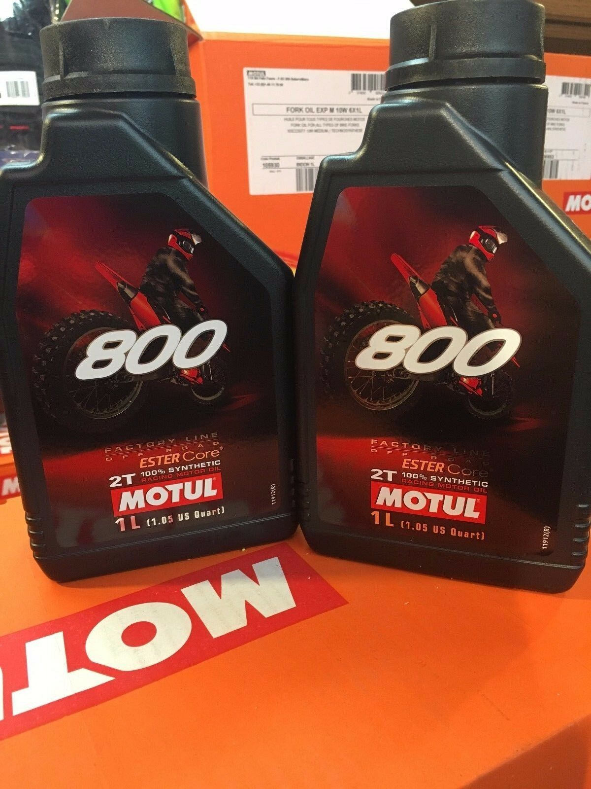 MOTUL 800 2T FACTORY LINE OFF ROAD 2 stroke  1 LITER 2PACK  FULL SYNTHETIC
