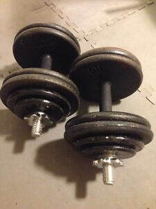 Fully adjustable dumbbells all metal weight plates