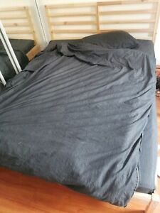 Queen size Ikea bed frame with matress, like new
