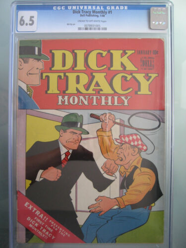 Dick Tracy Monthly #1 CGC 6.5 Dell Publishing 1948 Golden Age 1st Issue