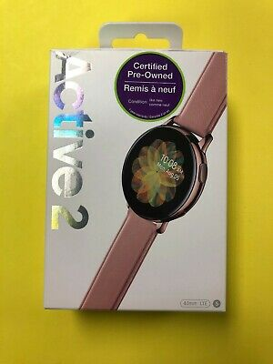 Samsung Galaxy Watch Active 2 LTE SM-R835 40mm Gold Stainless Steel Pink Strap