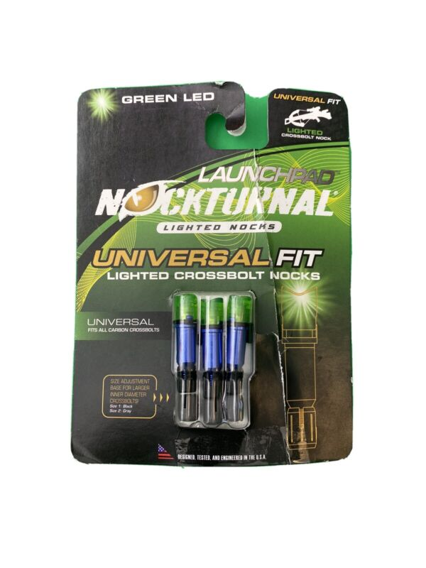 Nocturnal Green led Lighted X Nocks Universal Nick  Fit New 3 Pack.