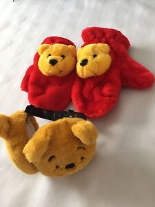 Children's Winnie the Pooh Mitts & Ear Muffs - Size 2 REDUCED!!